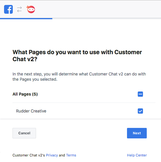 Facebook Chat Activation Step 3